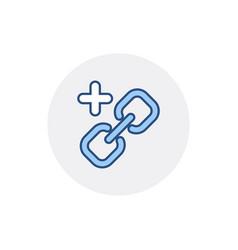 Add chain hyperlink link web web link icon vector