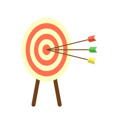 Archery target with arrows icon vector