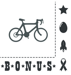 bicycle flat icon vector image