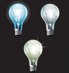 bulbs set vector image