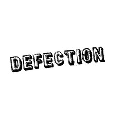 Defection typographic stamp vector