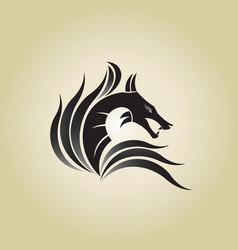 Dragon ideas design on background vector