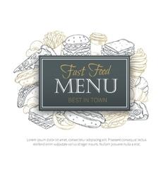 Fast food design menu vector image vector image