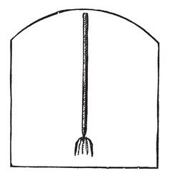 Fishing spear vintage vector