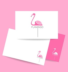 flamingo bird sign vector image vector image