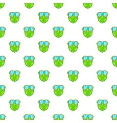 Green paintball mask pattern cartoon style vector image