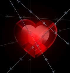 heart and wire vector image