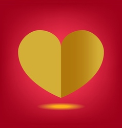 heart paper gold vector image vector image