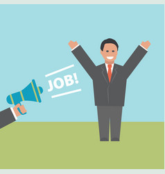 Job concept business vector