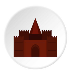 Medieval palace icon circle vector