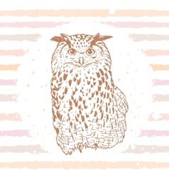 owl sketch vector image