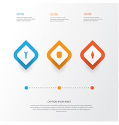 people icons set collection of member male vector image vector image