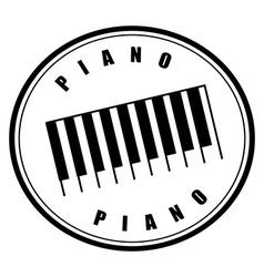 piano design vector image