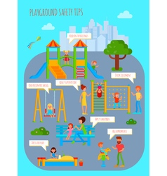 Playground Safety Tips Poster vector image vector image