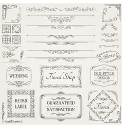 Retro Calligraphic Design Elements vector image