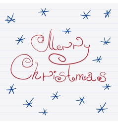 Sketch Merry Christmas vector image