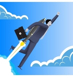 Successfull startup business concept vector