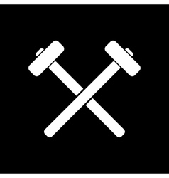 The hammer icon Sledgehammer symbol Flat vector image