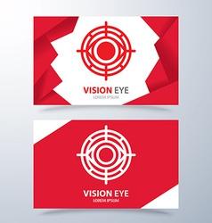 Vision eye symbol icon vector image vector image