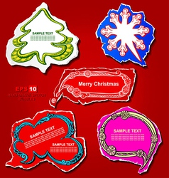 Christmas and new year graphic speech bubbles vector