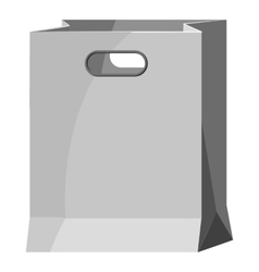 Paper bag icon gray monochrome style vector