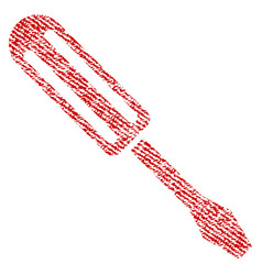 Screwdriver fabric textured icon vector
