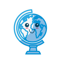 world globe cartoon vector image