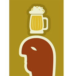 Beer poster vector