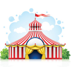 striped strolling circus vector image