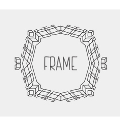 Hand drawn emblem abstract template elegant linear vector