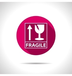 Fragile icon vector