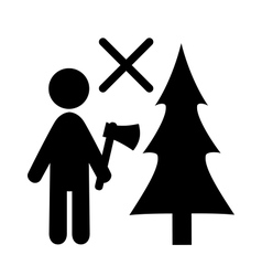 Don't chop christmas tree vector