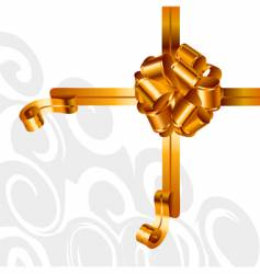 background composition with golden bow vector image