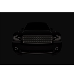 black car vector image