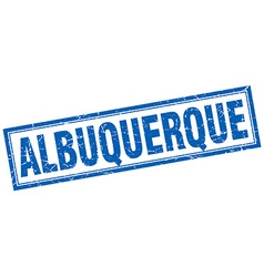 Albuquerque blue square grunge stamp on white vector
