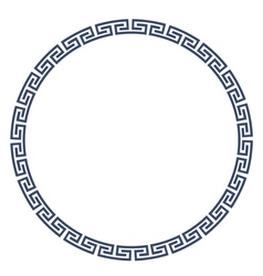 Greeke round frame for design vector