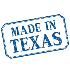 Texas - made in blue vintage isolated label vector