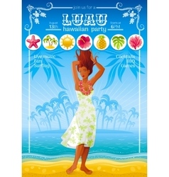 Summer travel beach background with beautiful tan vector image