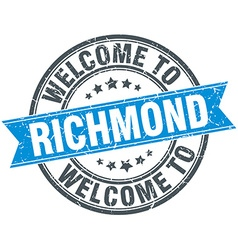 Welcome to richmond blue round vintage stamp vector