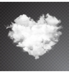 Realistic cloud heart with sun vector image