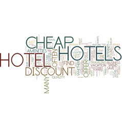 Are there any good cheap hotels text background vector
