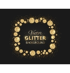Black and gold background with shiny glitter dots vector