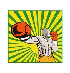 Boxer boxing jabbing front vector
