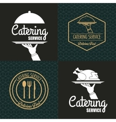 Catering service emblem image vector