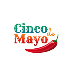 Cinco de mayo design element for greeting card vector