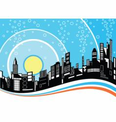 city ripple vector image vector image