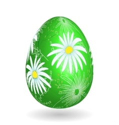 Colorful easter green egg with ornate doodle vector image vector image