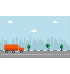 Delivery truck concept vector