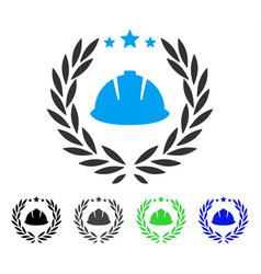 Developer laureal wreath flat icon vector