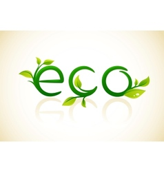 Eco - think green symbol with leafs vector image vector image